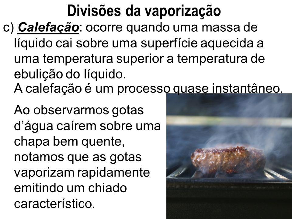 Divisões da vaporização