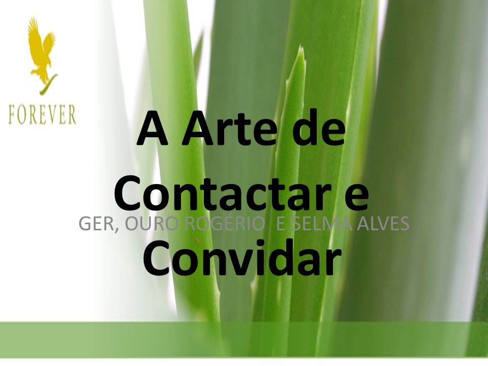 A Arte de Contactar e Convidar