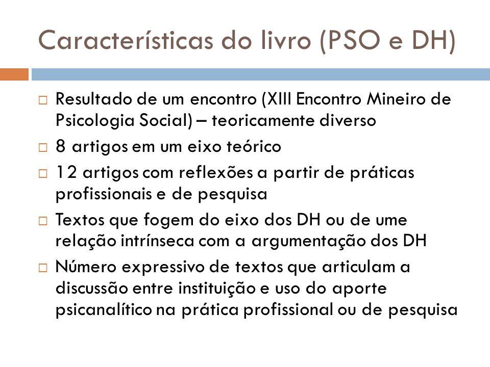 Características do livro (PSO e DH)