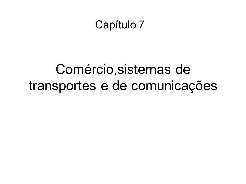 Comércio,sistemas de transportes e de comunicações