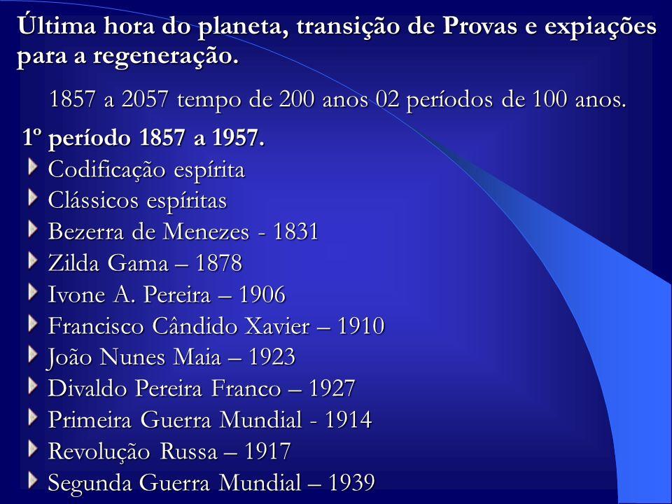 1857 a 2057 tempo de 200 anos 02 períodos de 100 anos.