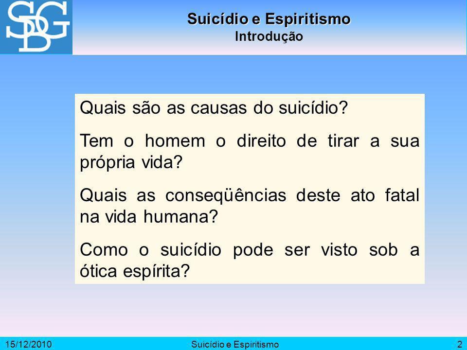 Suicídio e Espiritismo