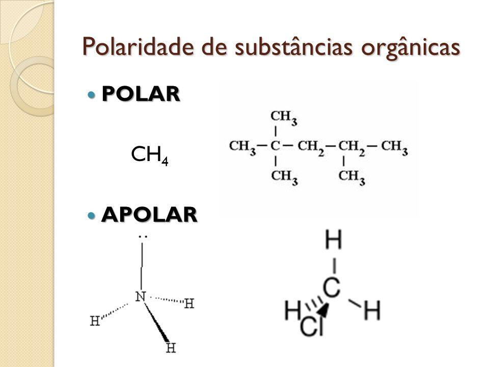Polaridade de substâncias orgânicas