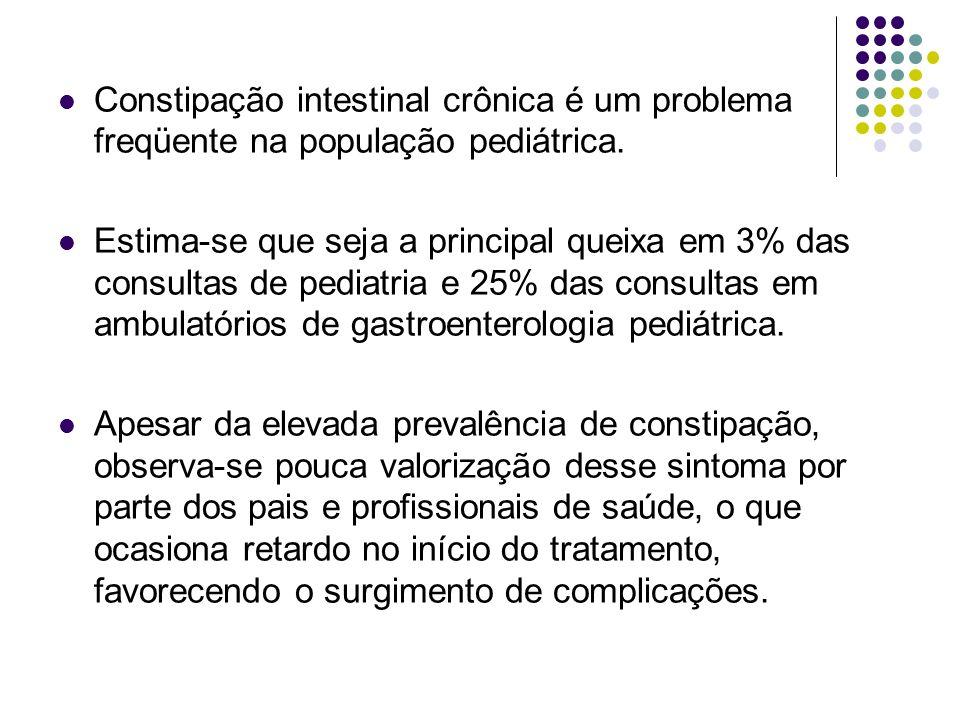 Constipação intestinal crônica é um problema freqüente na população pediátrica.