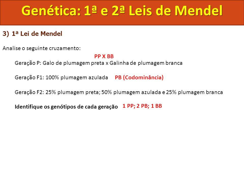 Genética: 1ª e 2ª Leis de Mendel