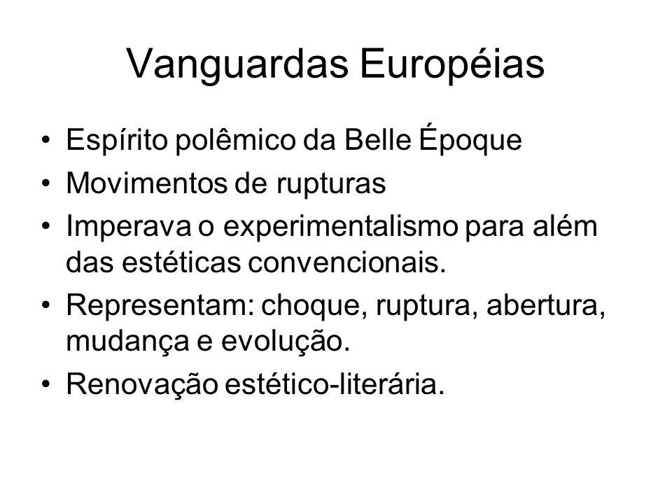 Vanguardas Européias Espírito polêmico da Belle Époque