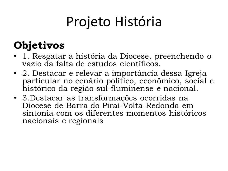 Projeto História Objetivos