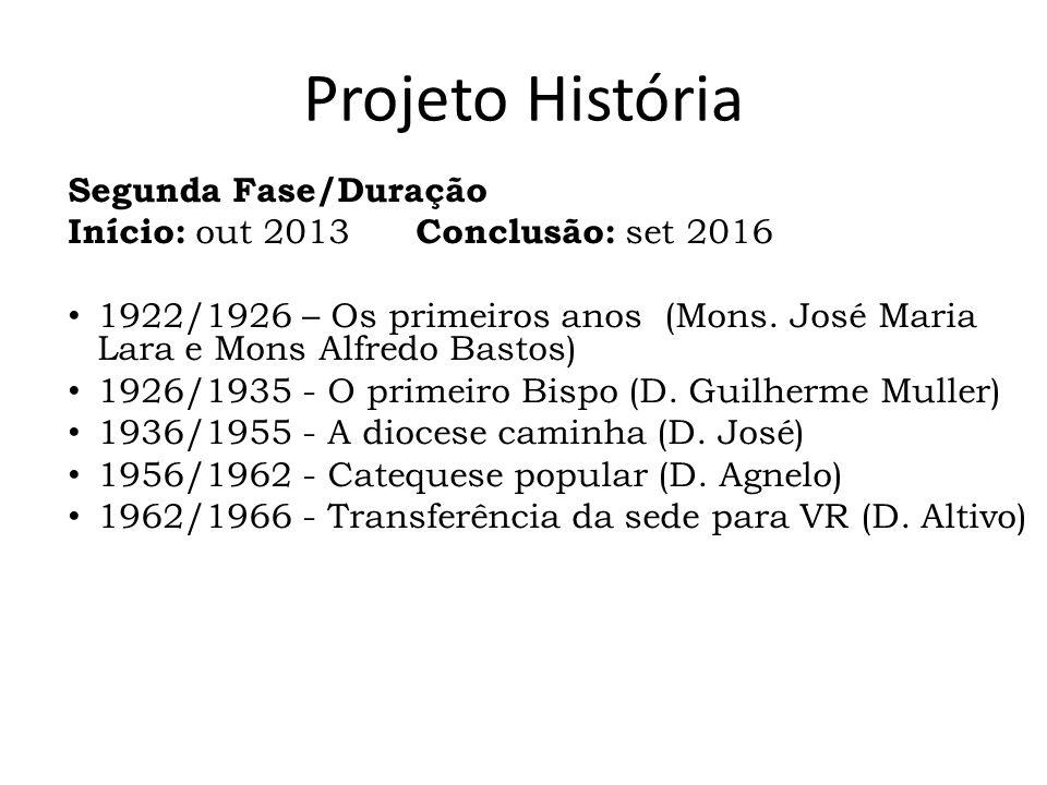 Projeto História Segunda Fase/Duração