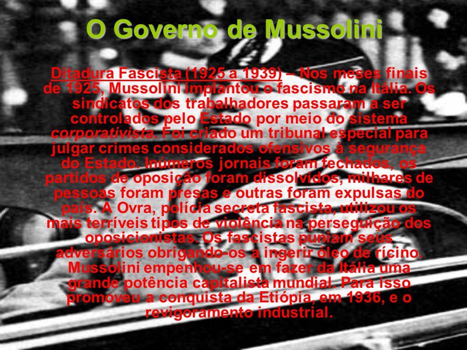 O Governo de Mussolini