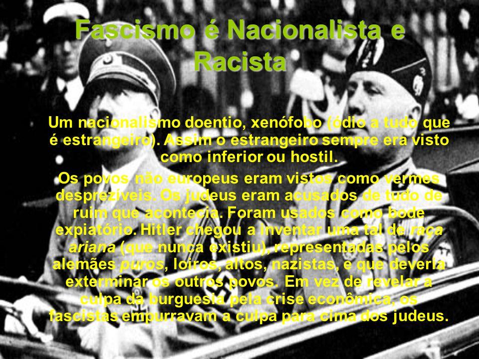 Fascismo é Nacionalista e Racista