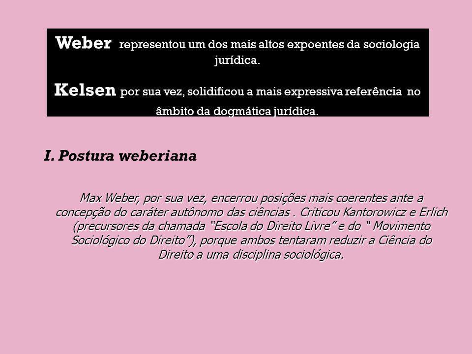 Weber representou um dos mais altos expoentes da sociologia jurídica.