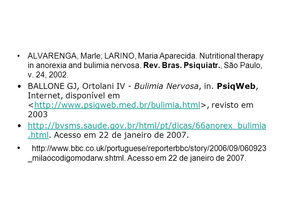 ALVARENGA, Marle; LARINO, Maria Aparecida