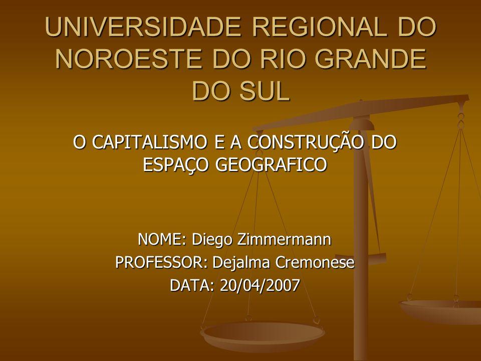 UNIVERSIDADE REGIONAL DO NOROESTE DO RIO GRANDE DO SUL