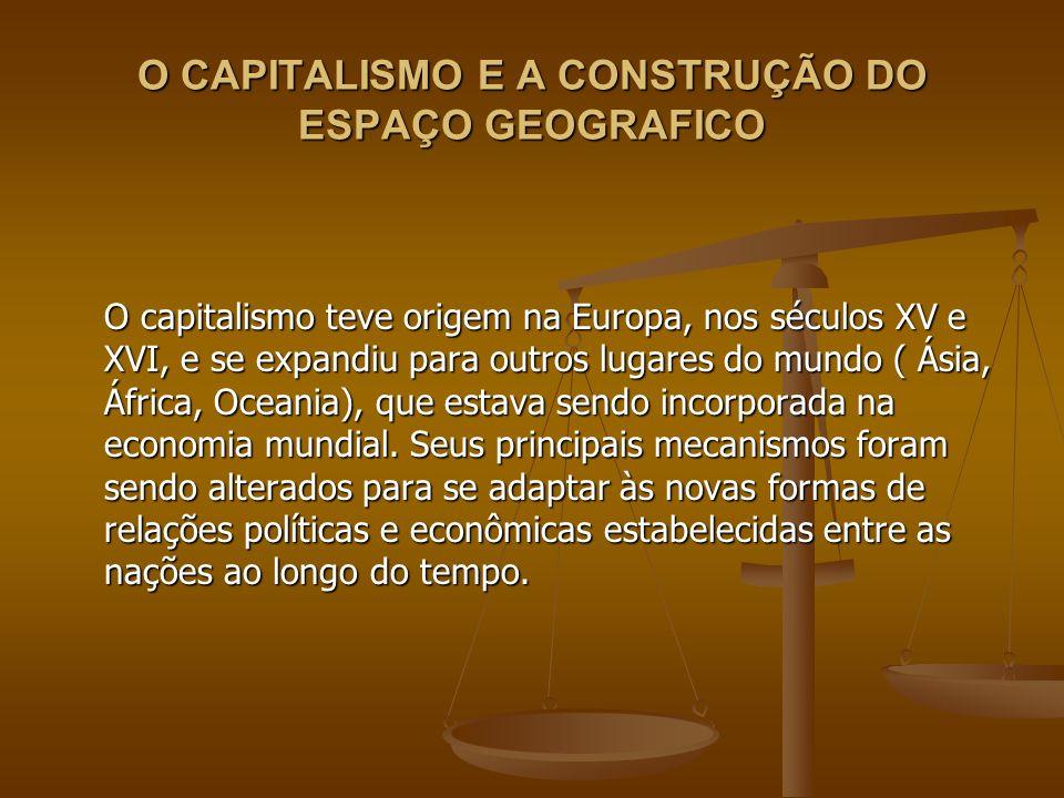 O CAPITALISMO E A CONSTRUÇÃO DO ESPAÇO GEOGRAFICO