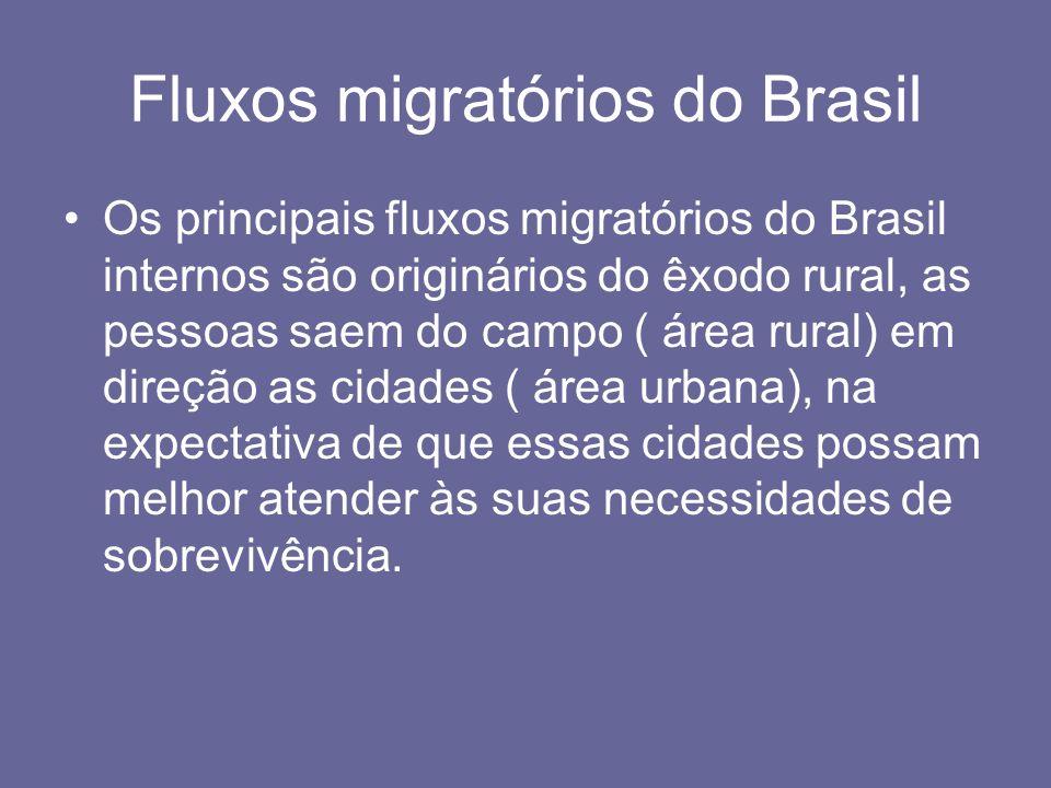 Fluxos migratórios do Brasil