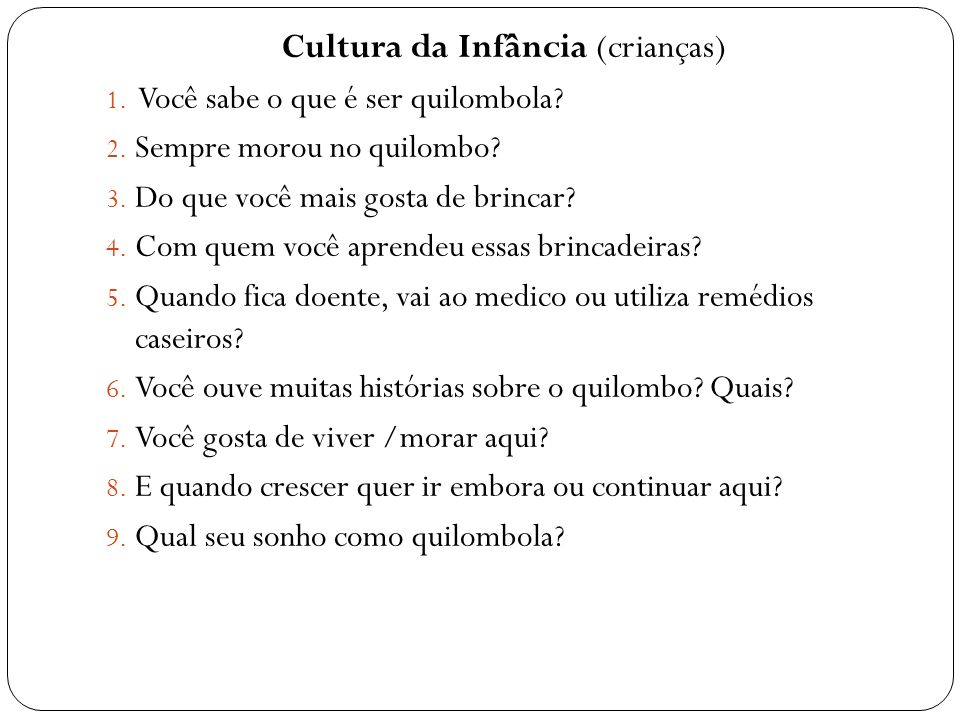 Cultura da Infância (crianças)