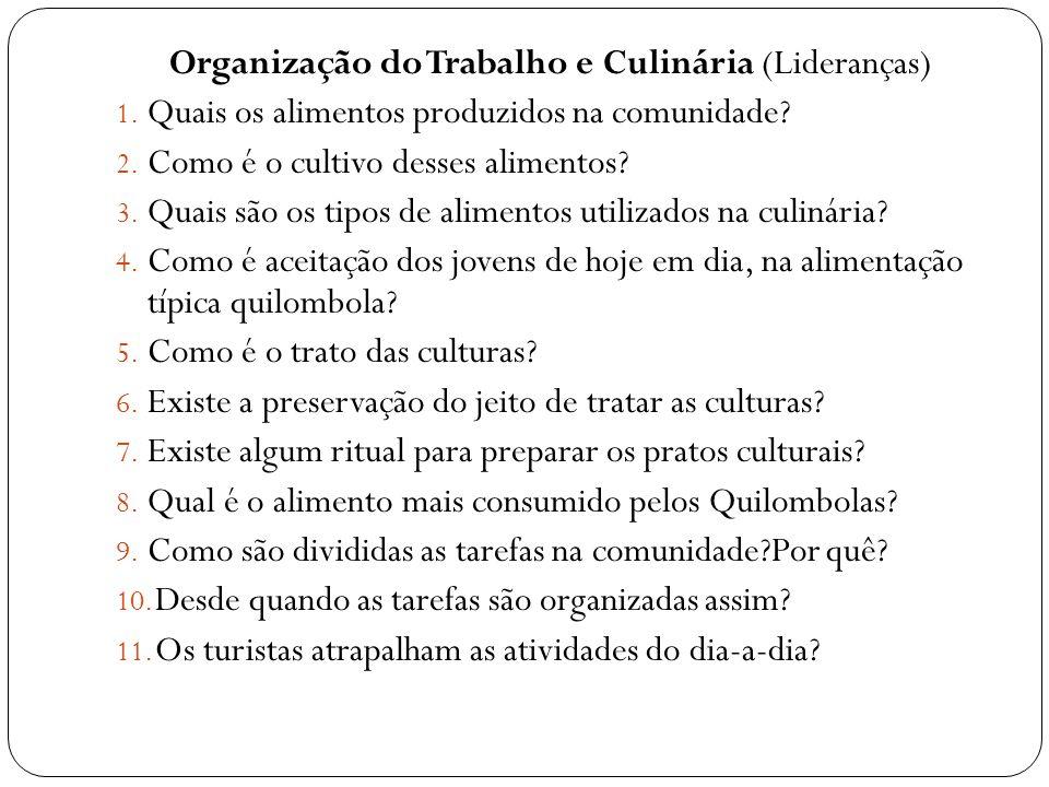 Organização do Trabalho e Culinária (Lideranças)