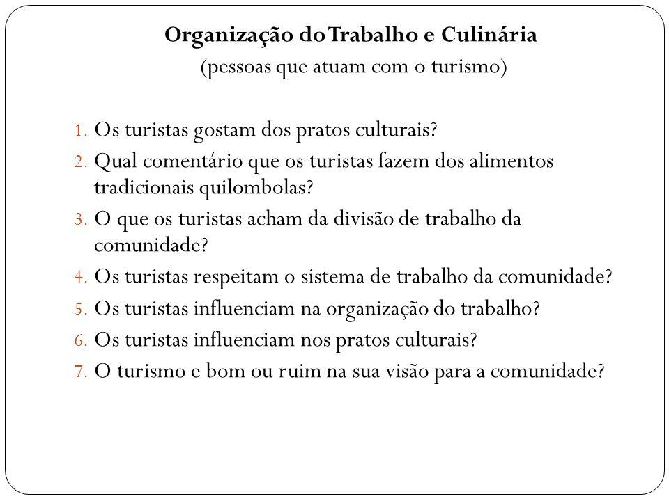 Organização do Trabalho e Culinária