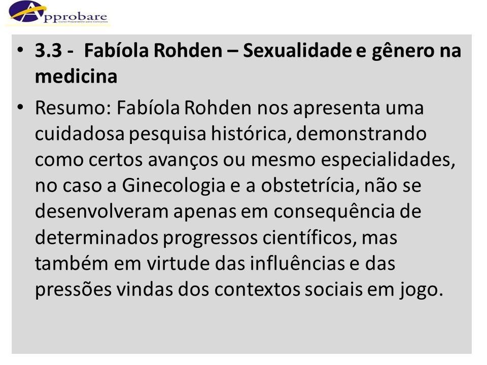 3.3 - Fabíola Rohden – Sexualidade e gênero na medicina