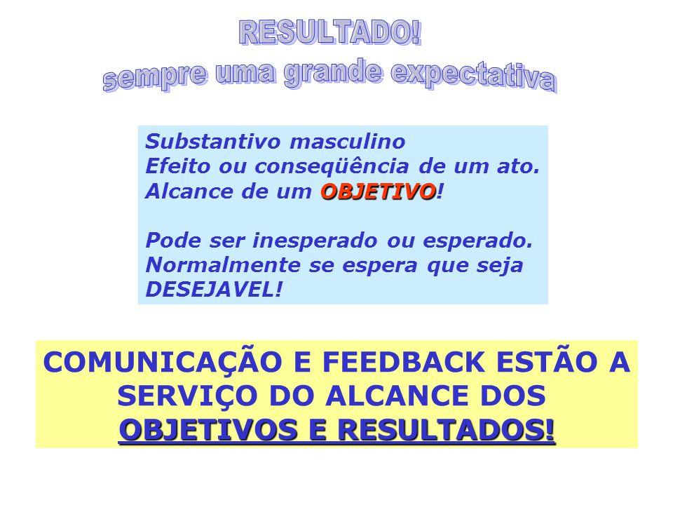 COMUNICAÇÃO E FEEDBACK ESTÃO A OBJETIVOS E RESULTADOS!