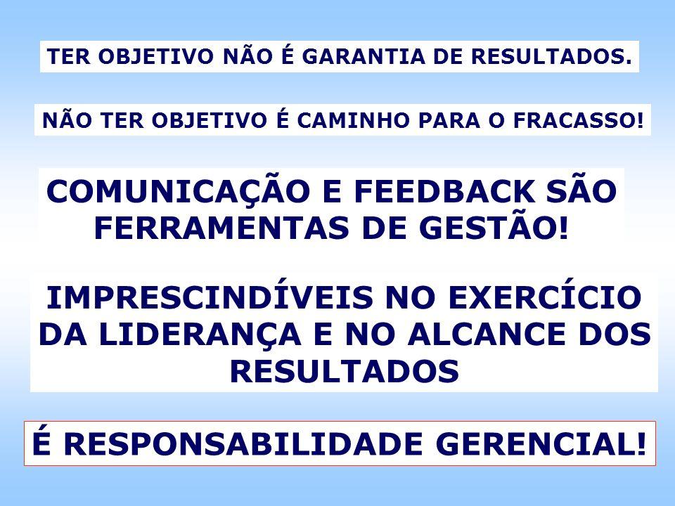 COMUNICAÇÃO E FEEDBACK SÃO FERRAMENTAS DE GESTÃO!