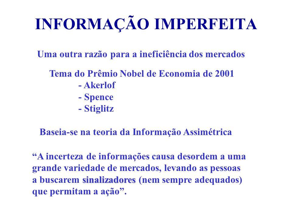 INFORMAÇÃO IMPERFEITA