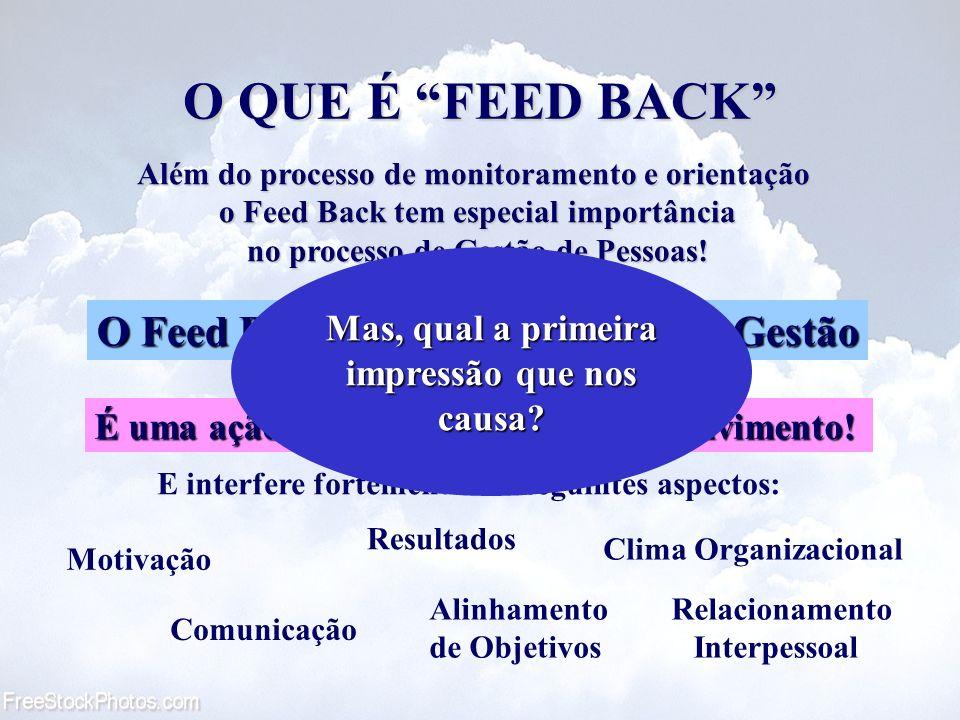 O QUE É FEED BACK O Feed Back é uma ferramenta de Gestão