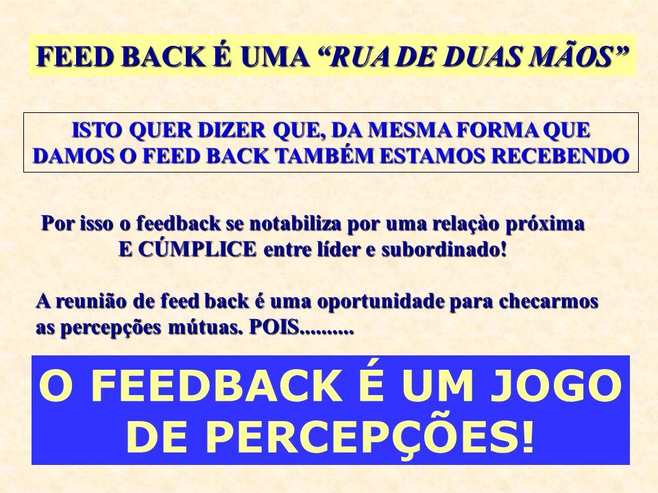 O FEEDBACK É UM JOGO DE PERCEPÇÕES!