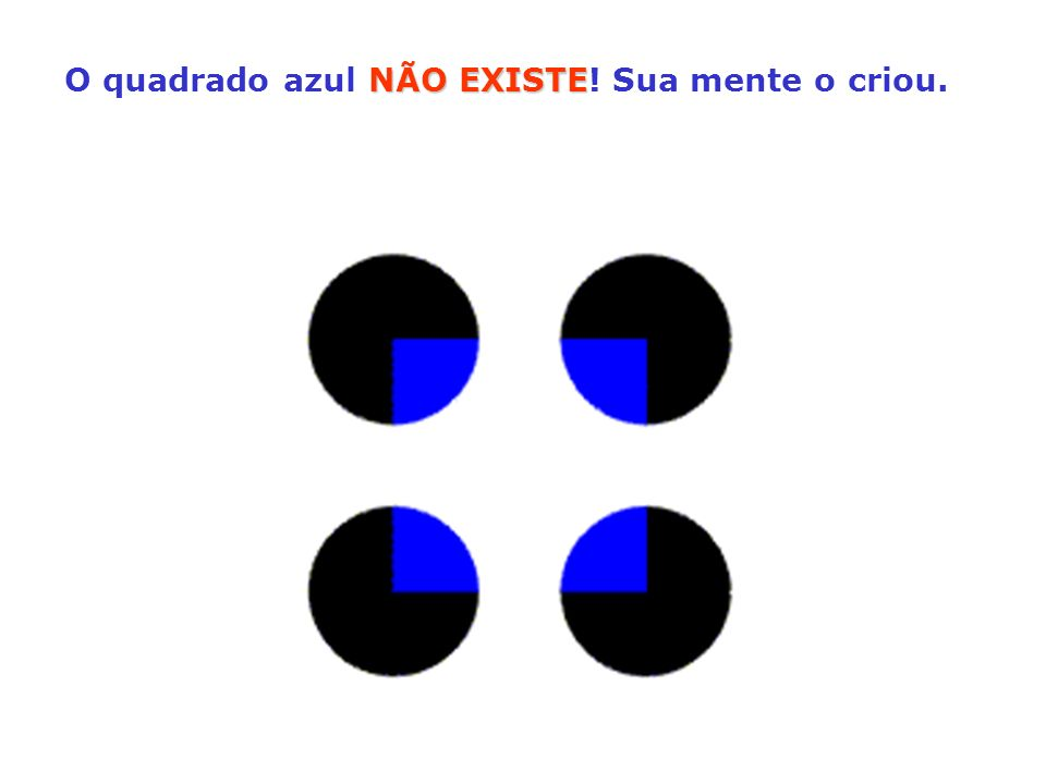 O quadrado azul NÃO EXISTE! Sua mente o criou.