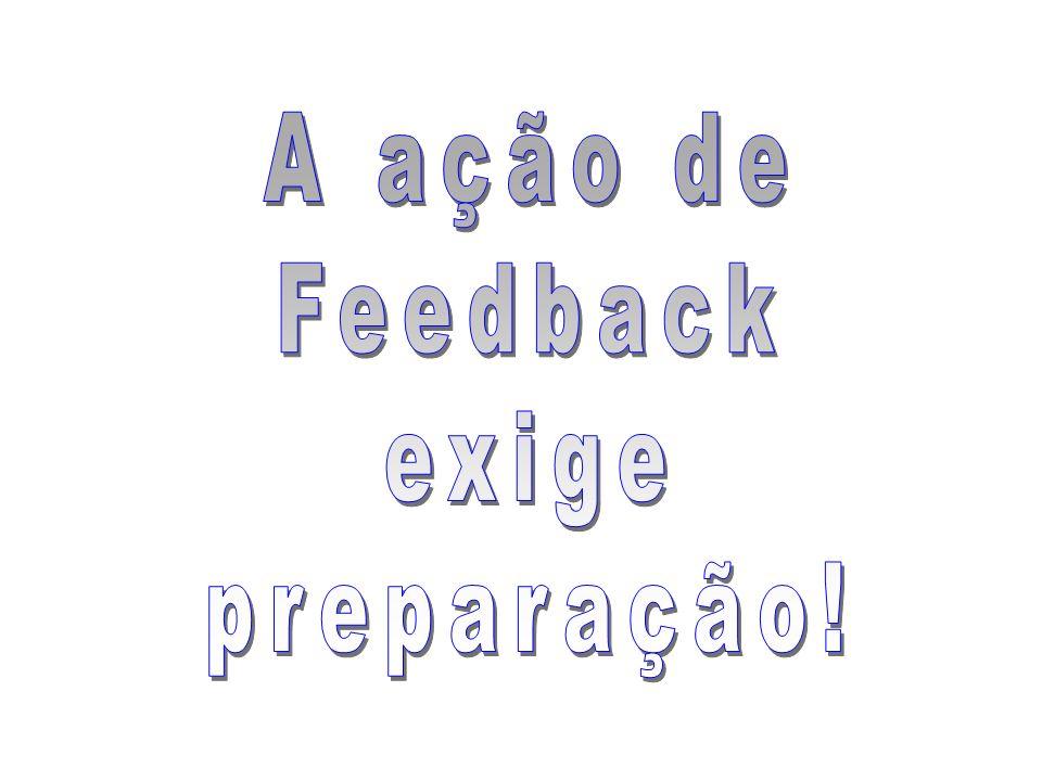 A ação de Feedback exige preparação!