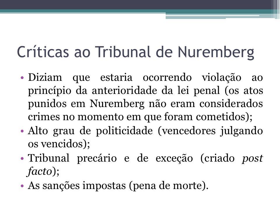 Críticas ao Tribunal de Nuremberg