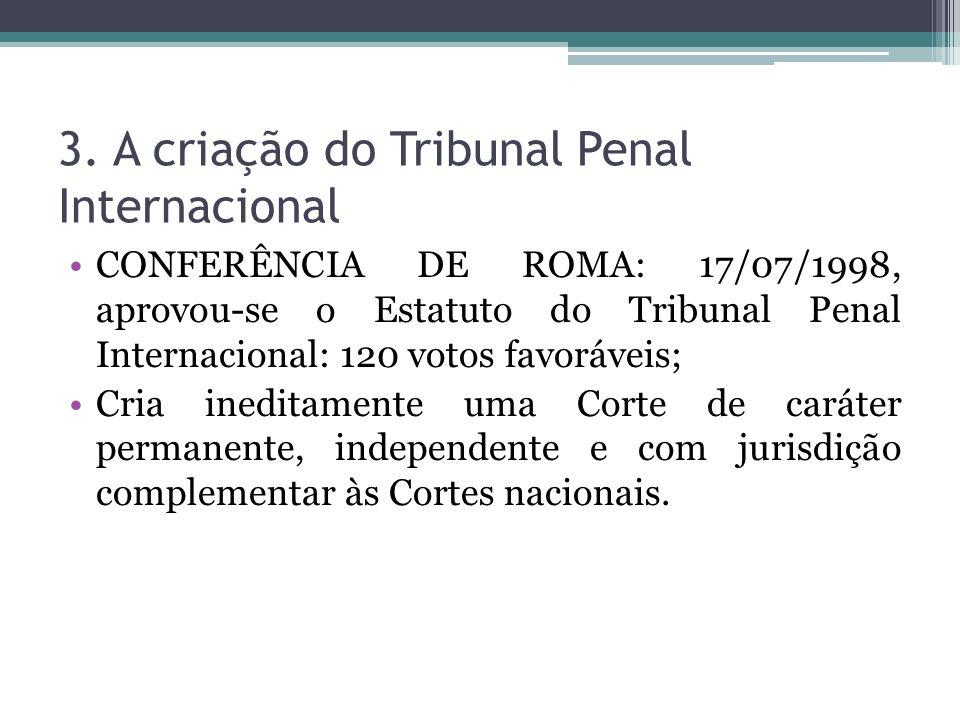 3. A criação do Tribunal Penal Internacional