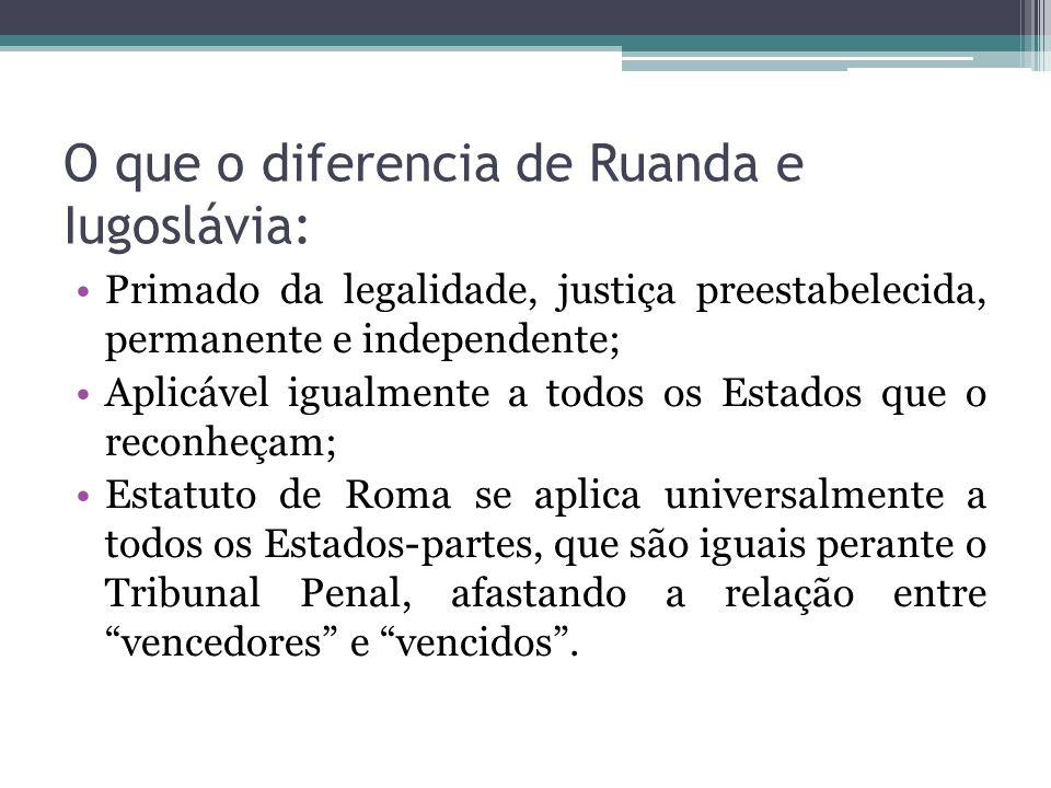 O que o diferencia de Ruanda e Iugoslávia: