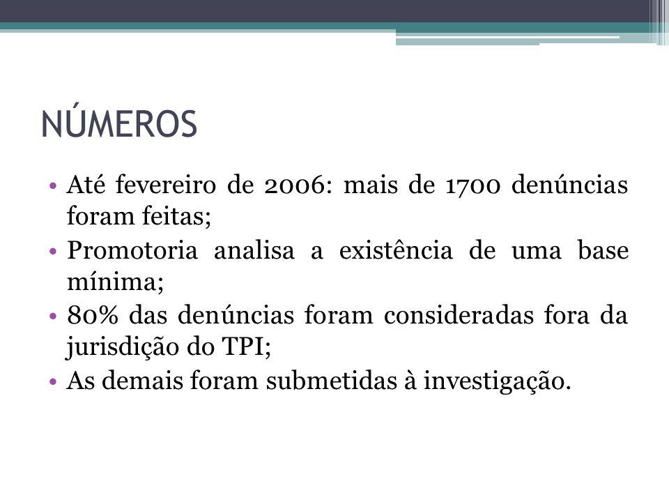 NÚMEROS Até fevereiro de 2006: mais de 1700 denúncias foram feitas;