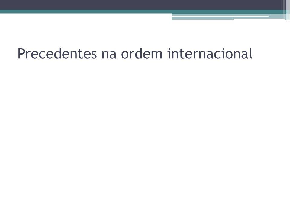 Precedentes na ordem internacional