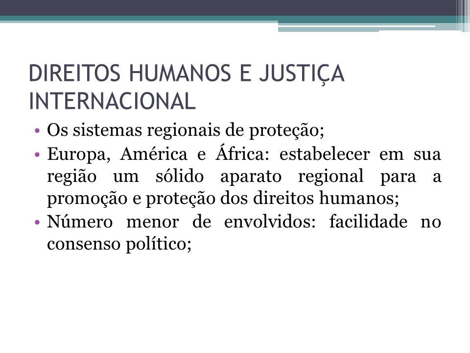 DIREITOS HUMANOS E JUSTIÇA INTERNACIONAL