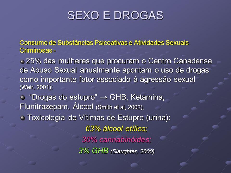 SEXO E DROGAS Consumo de Substâncias Psicoativas e Atividades Sexuais Criminosas -