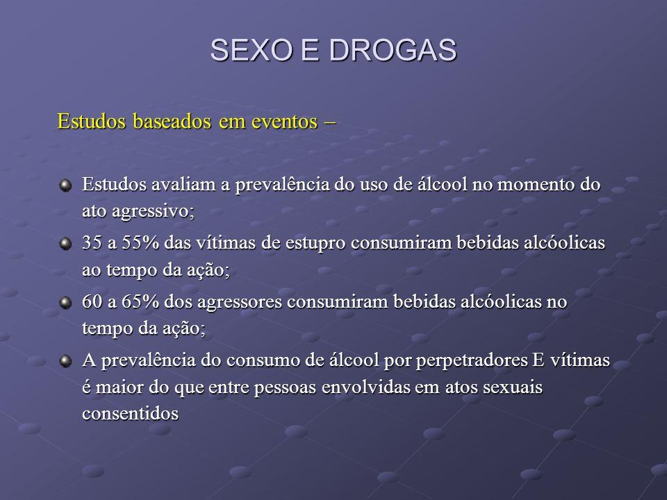 SEXO E DROGAS Estudos baseados em eventos –