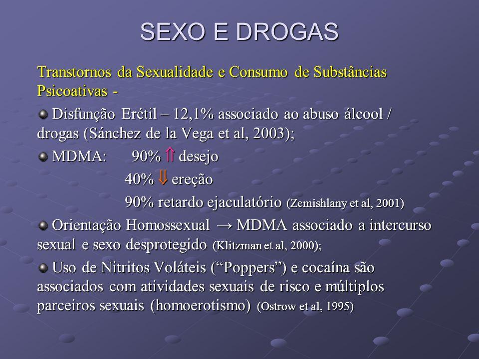 SEXO E DROGAS Transtornos da Sexualidade e Consumo de Substâncias Psicoativas -