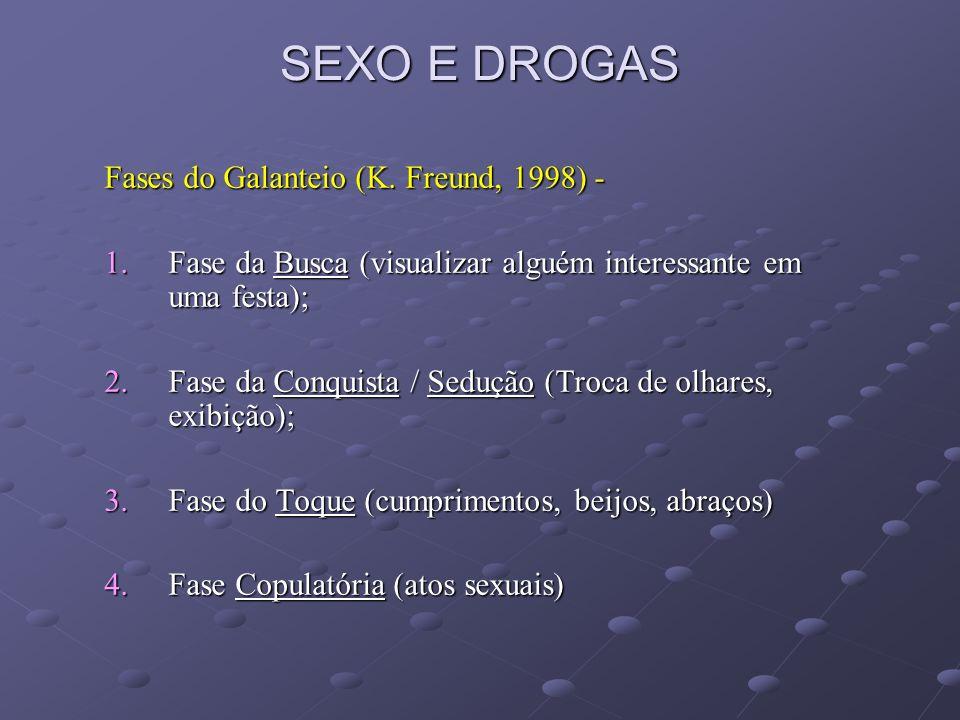 SEXO E DROGAS Fases do Galanteio (K. Freund, 1998) -