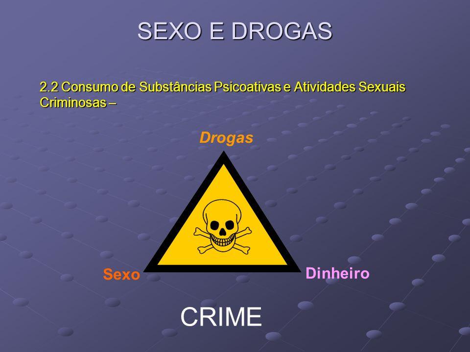 CRIME SEXO E DROGAS Drogas Sexo Dinheiro