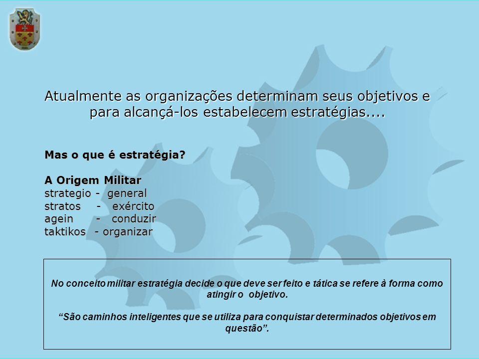 Atualmente as organizações determinam seus objetivos e para alcançá-los estabelecem estratégias....