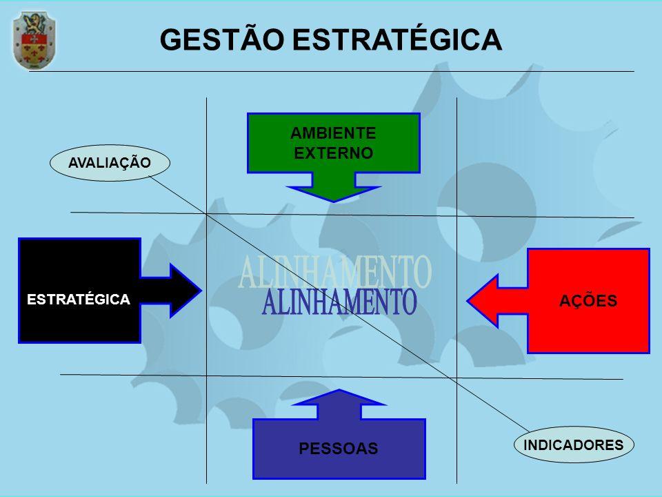 GESTÃO ESTRATÉGICA ALINHAMENTO AMBIENTE EXTERNO AÇÕES PESSOAS