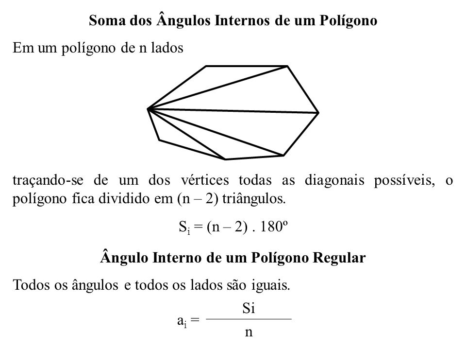Soma dos Ângulos Internos de um Polígono