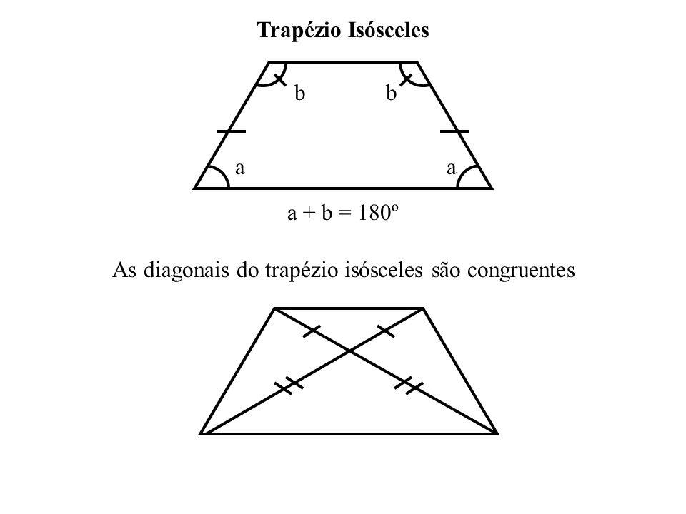 As diagonais do trapézio isósceles são congruentes