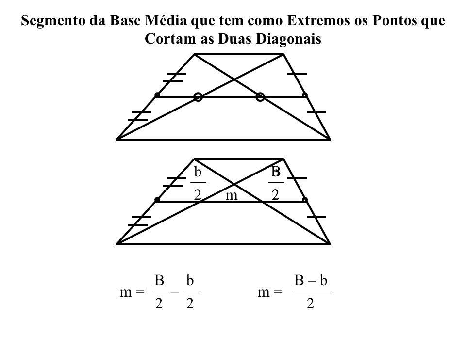 Segmento da Base Média que tem como Extremos os Pontos que Cortam as Duas Diagonais