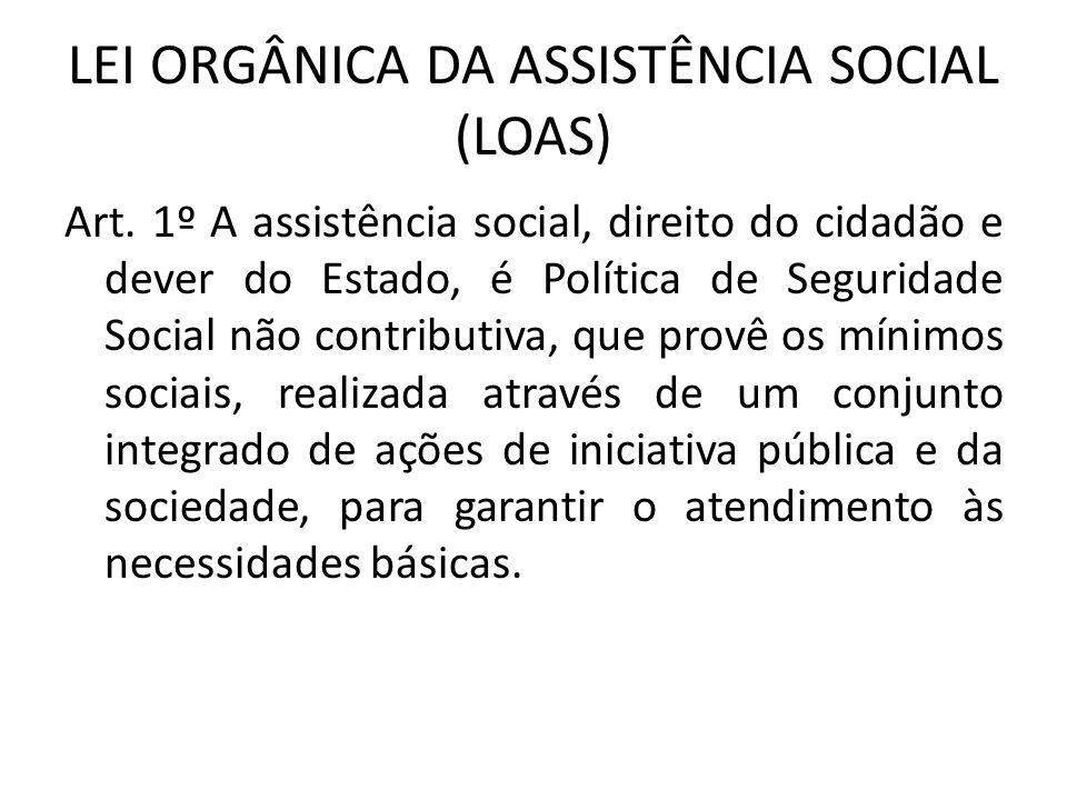 LEI ORGÂNICA DA ASSISTÊNCIA SOCIAL (LOAS)