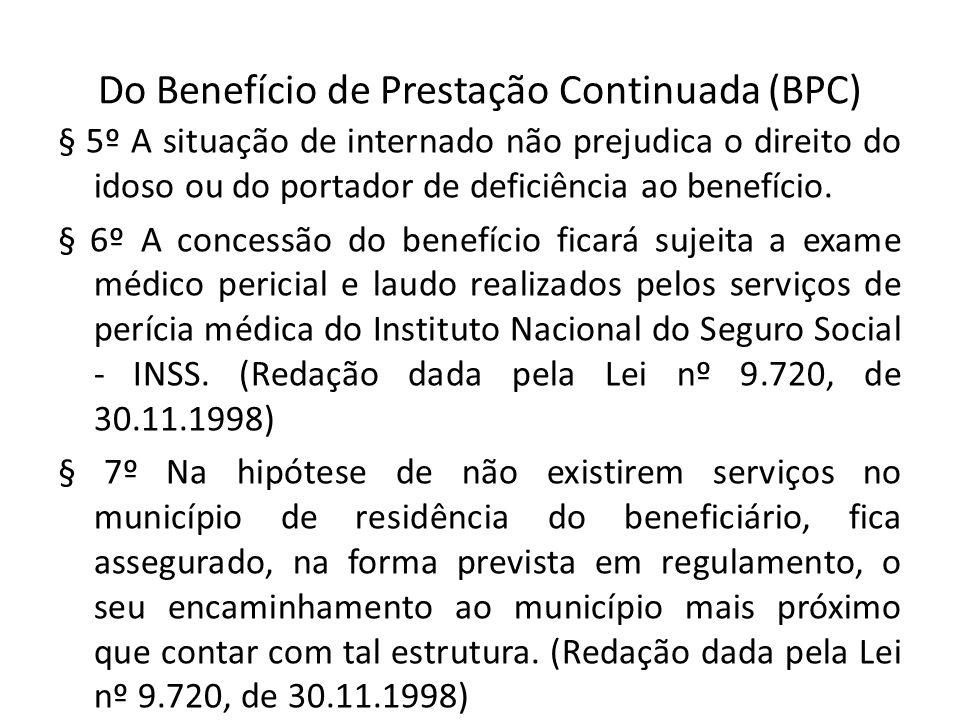 Do Benefício de Prestação Continuada (BPC)
