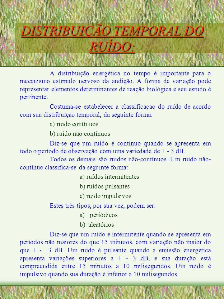 DISTRIBUIÇÃO TEMPORAL DO RUÍDO: