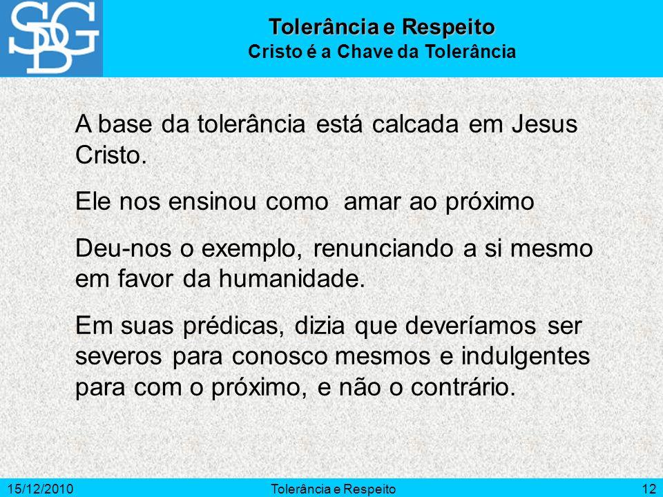 Cristo é a Chave da Tolerância